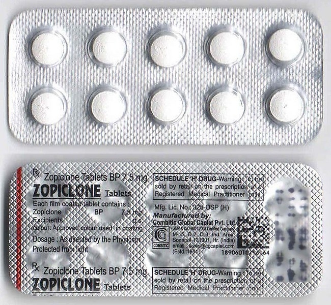 ZOPICLONE 7.5MG (Indian) (x 40 Tablets))